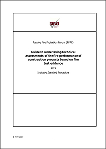 Passive Fire Protection Forum Guide to Undertaking Technical Assessment 2019